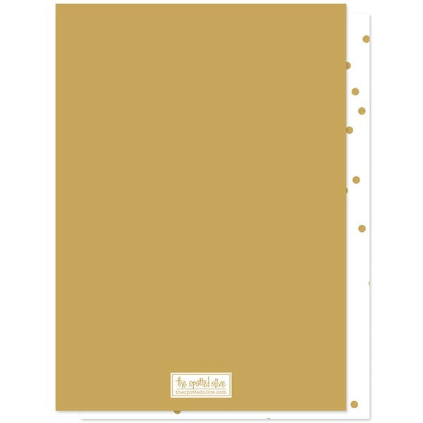 Gold Confetti Graduation Party Invitations by The Spotted Olive back