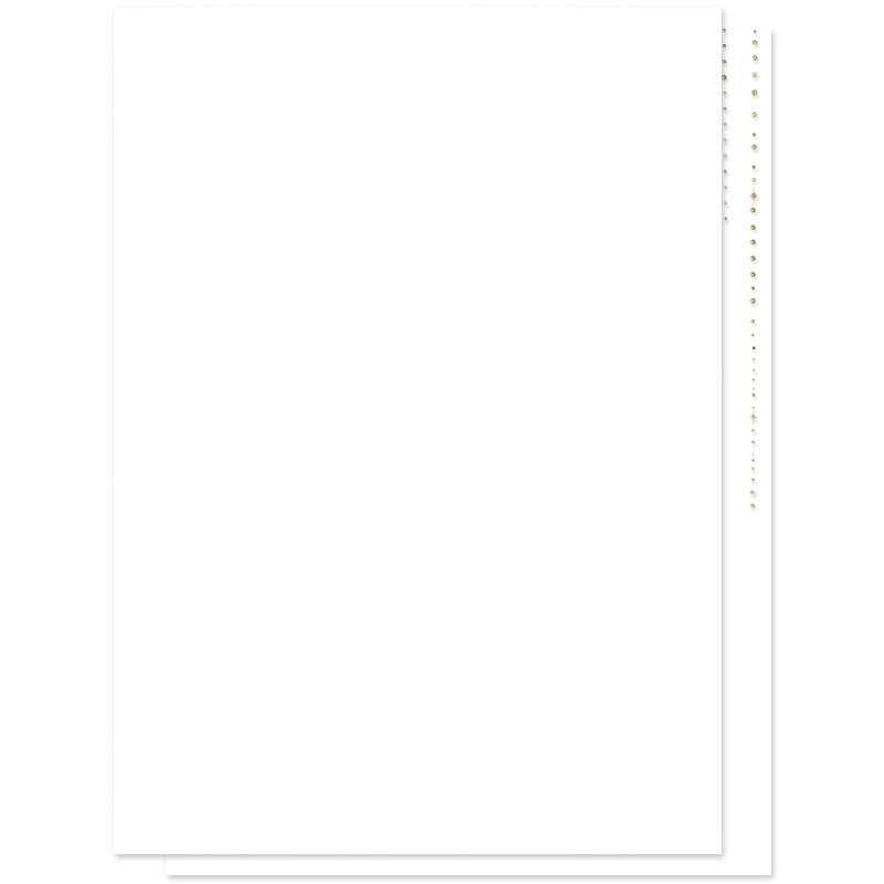 Gold Glitter Look Wedding Invitations-White Background - Back
