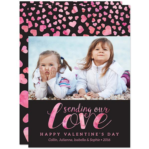 Hearts Aflutter Valentine's Day Photo Cards by The Spotted Olive