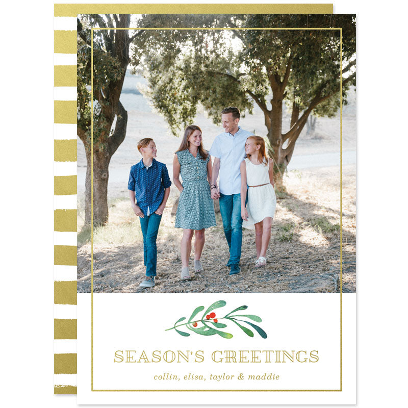 Holiday Berries Photo Christmas Cards by The Spotted Olive