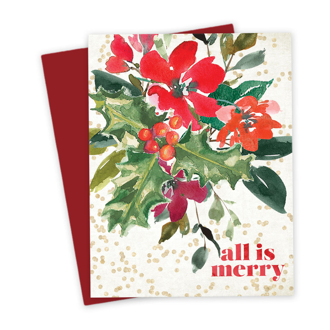 Christmas Bouquet Holiday Card by The Spotted Olive