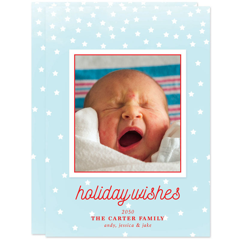 Holiday Stars Christmas Photo Cards by The Spotted Olive