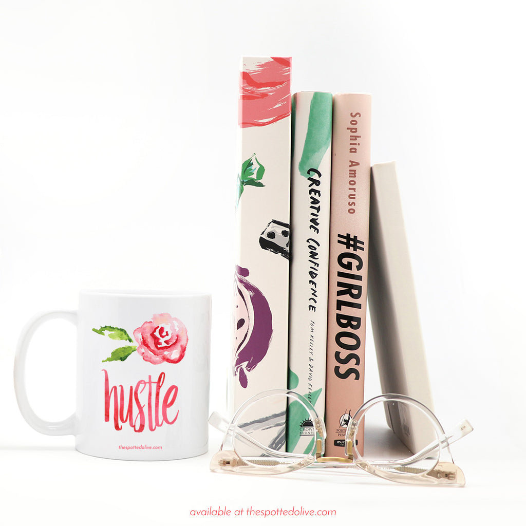 Hustle Rose Coffee Mug by The Spotted Olive - Scene