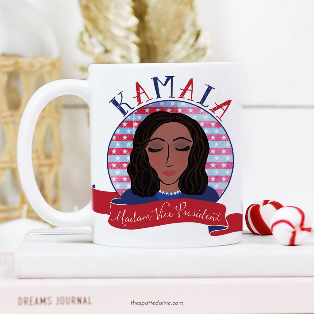 Kamala Madam Vice President Coffee Mug by The Spotted Olive - Scene