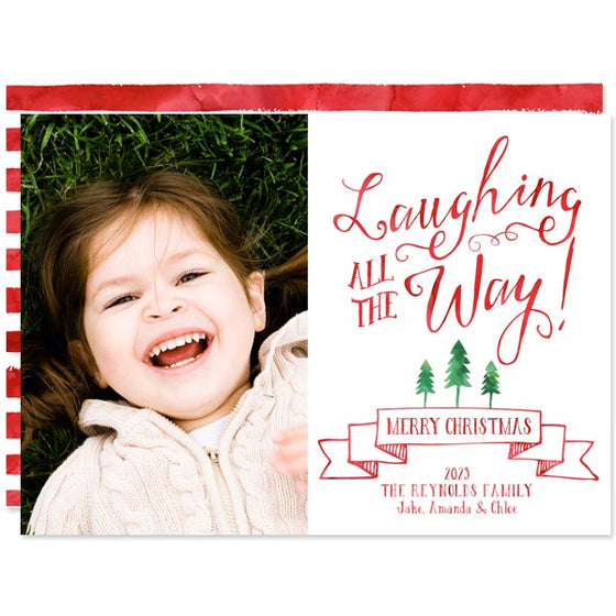 Laughing All The Way Christmas Photo Cards by The Spotted Olive