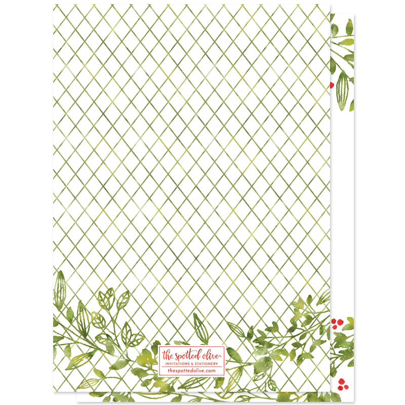 Leafy Joys Holiday Photo Cards by The Spotted Olive - Back
