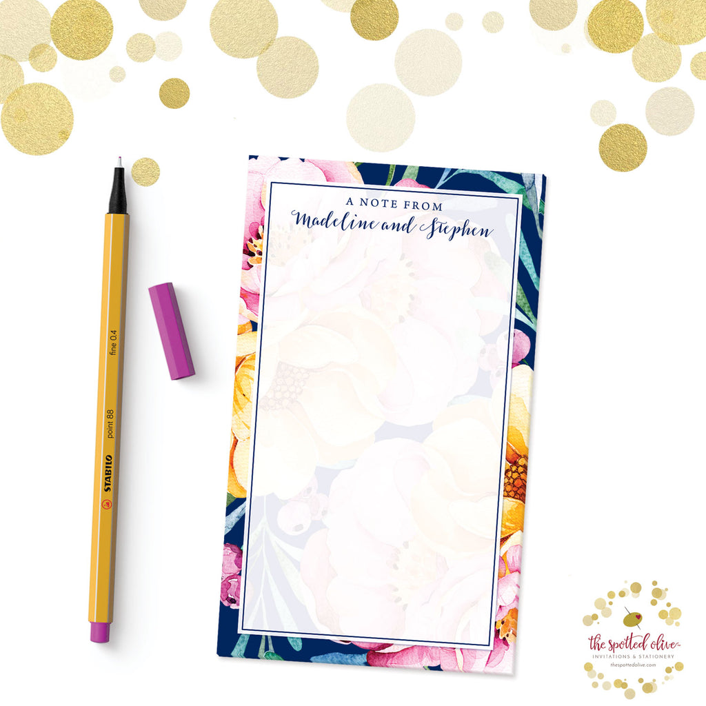 Love in Bloom Personalized Notepads by The Spotted Olive - Branded