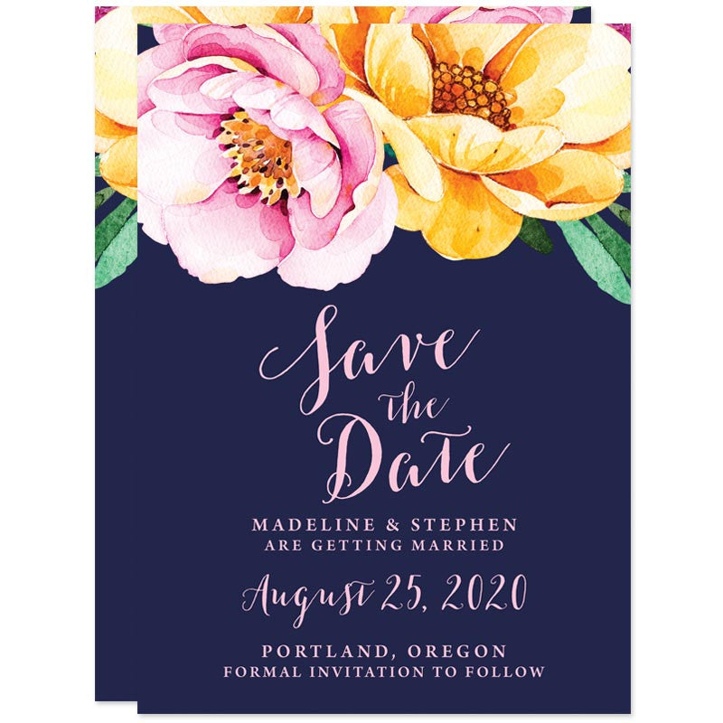 Love In Bloom Save The Date Cards by The Spotted Olive