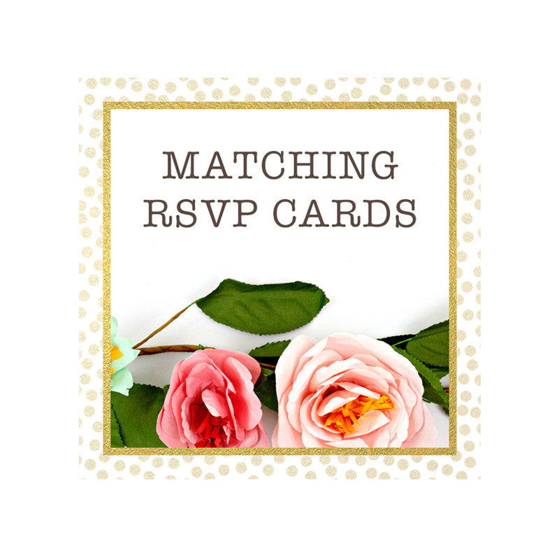 Matching RSVP Cards by The Spotted Olive