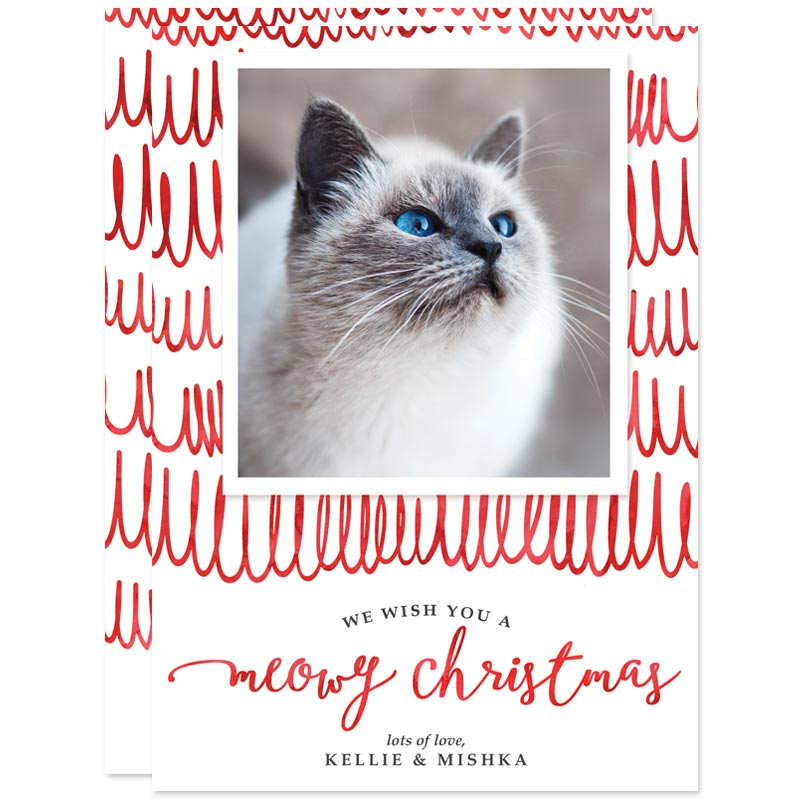 Meowy Christmas Holiday Photo Cards by The Spotted Olive