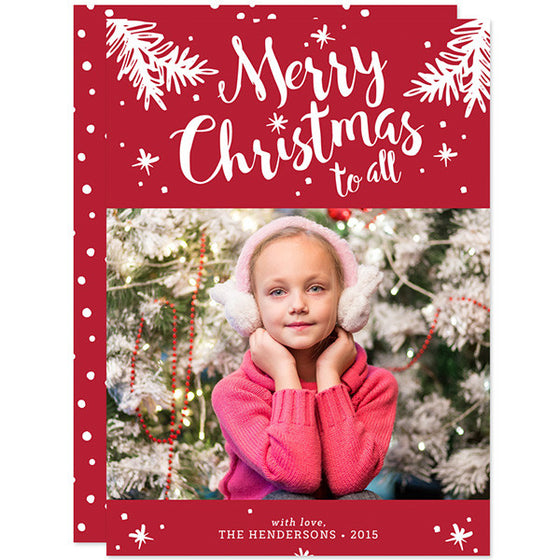 Merry Christmas To All Holiday Photo Cards by The Spotted Olive