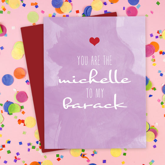 You Are The Michelle To My Barack Card by The Spotted Olive - Scene