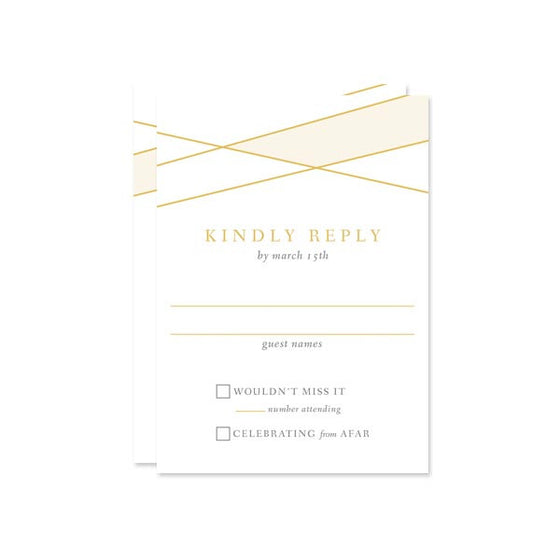 Modern Lines RSVP Cards by The Spotted Olive