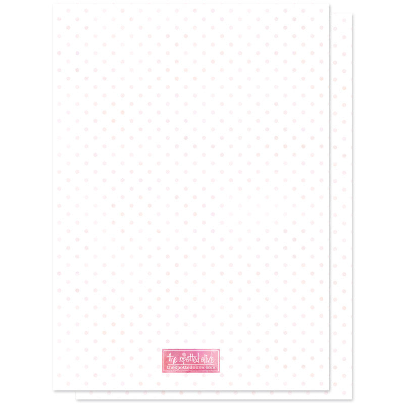 Oh Baby Fun Frame Birth Announcements - Pink - Back