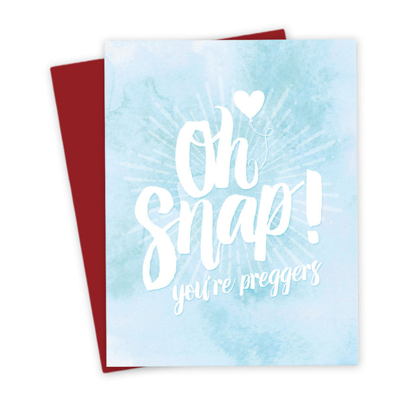 Oh Snap! You're Preggers Card by The Spotted Olive - Scene