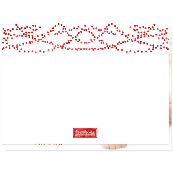 Oh So Jolly Christmas Holiday Photo Cards by The Spotted Olive - Back