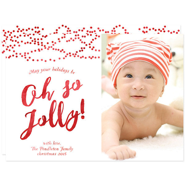 Oh So Jolly Christmas Holiday Photo Cards by The Spotted Olive
