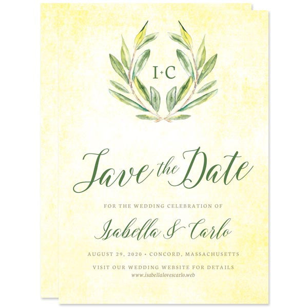Olive Branch Save The Dates by The Spotted Olive