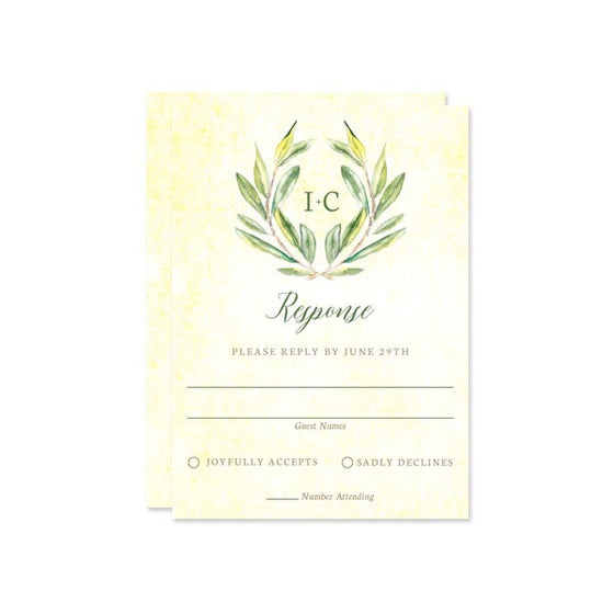 Olive Branch RSVP Cards by The Spotted Olive