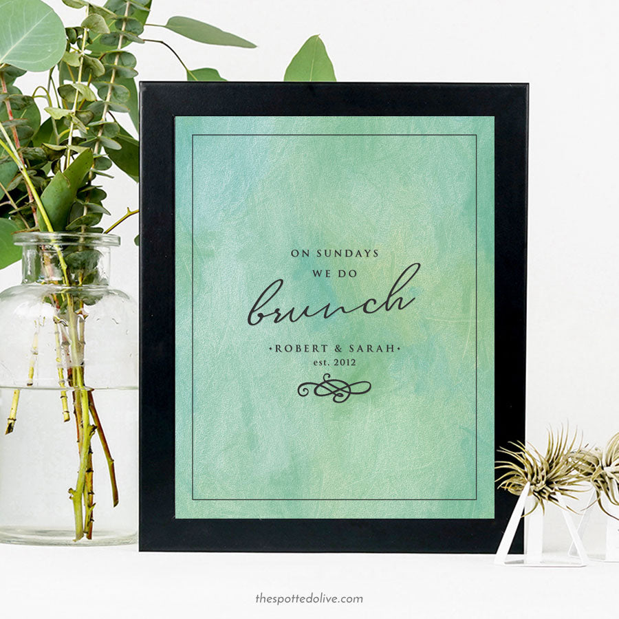 On Sundays We Do Brunch Personalized Art Print by The Spotted Olive - Scene