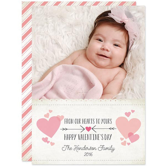 Our Hearts To Yours Valentine's Day Photo Card by The Spotted Olive