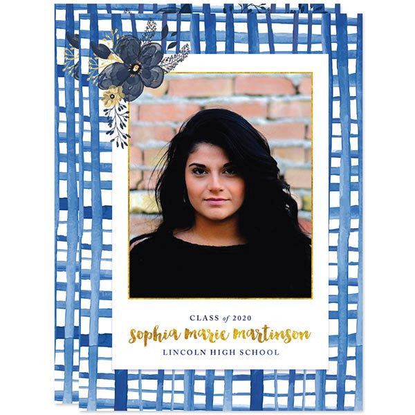 Painted Plaid Graduation Announcements - Class of 2016 by The Spotted Olive