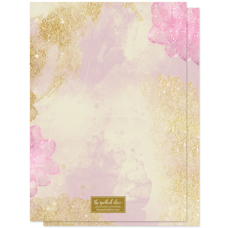 Pink & Gold Pixie Dust Sweet 16 Invitations by The Spotted Olive - Back