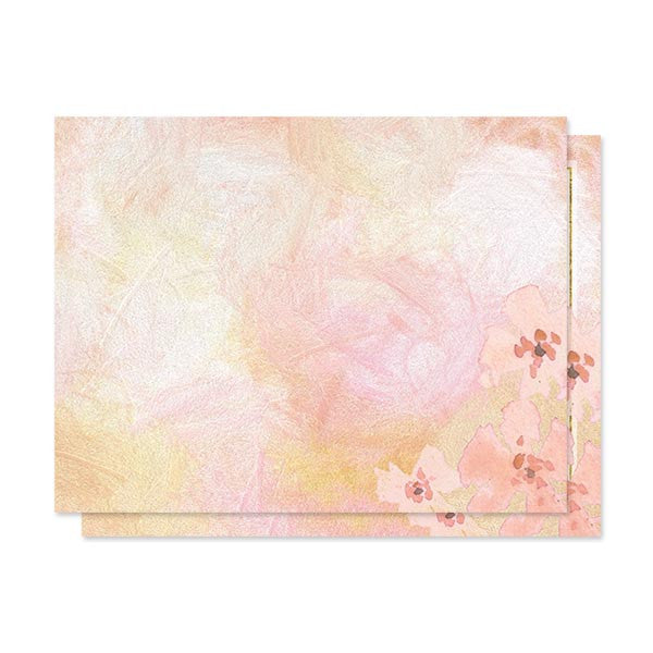 Pretty Peach Floral Wedding Enclosure Cards by The Spotted Olive - Back