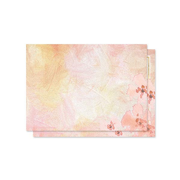 Pretty Peach Floral RSVP Cards by The Spotted Olive back
