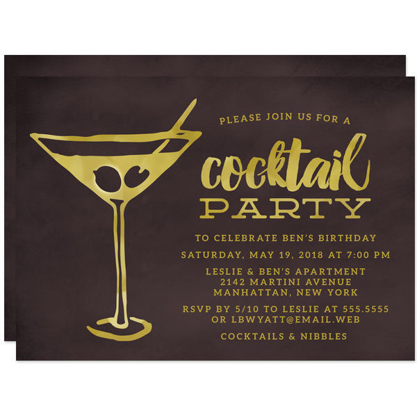 Retro Martini Party Invitations by The Spotted Olive