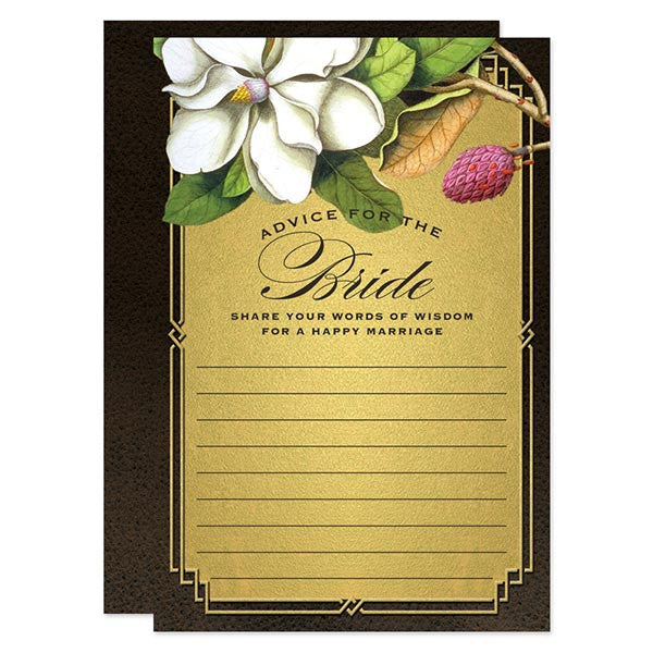 Rustic Magnolia Advice for the Bride Cards by The Spotted Olive