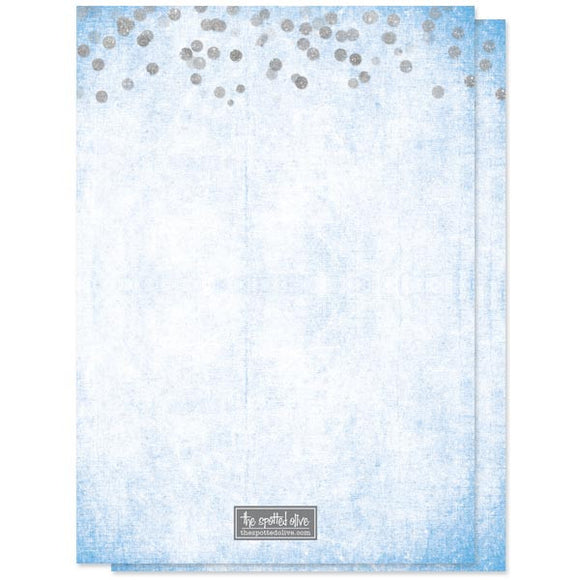 Bridal Shower Invitations - Silver Confetti Something Blue