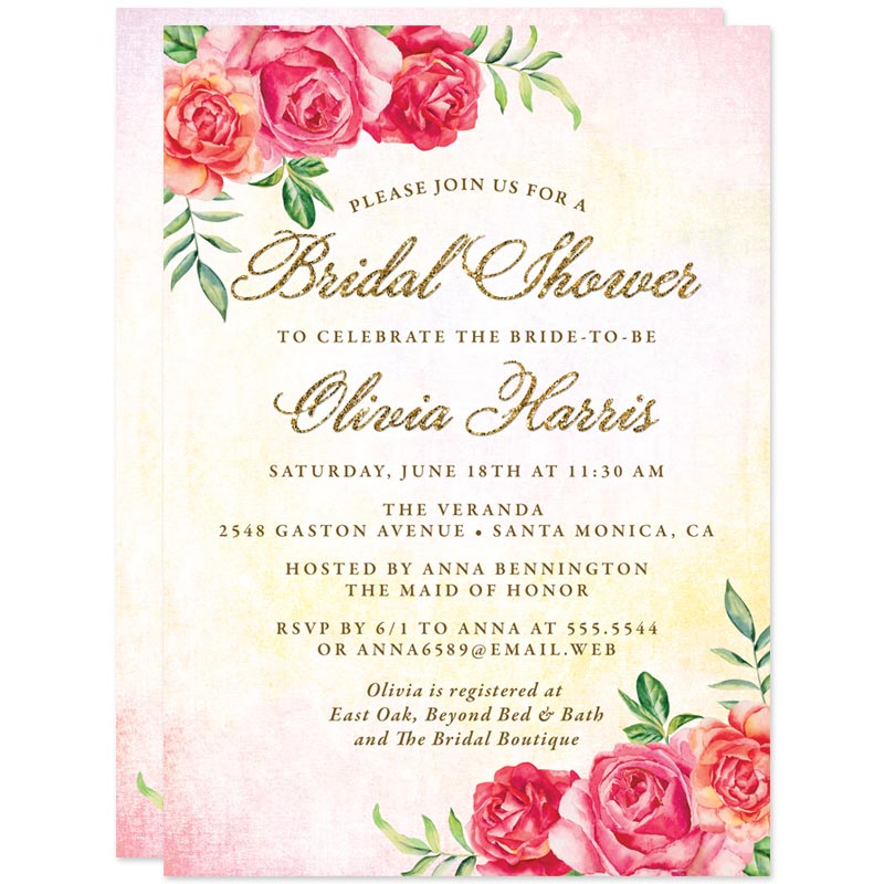 Spring Garden Bridal Shower Invitations by The Spotted Olive