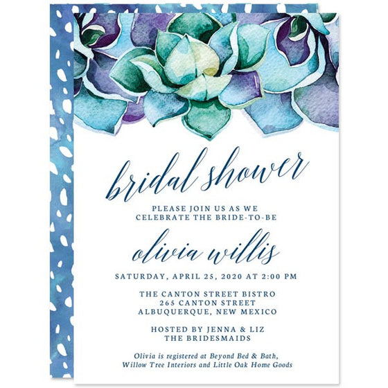 Bridal shower invitations by the spotted olive the spotted olive succulent garden bridal shower invitations by the spotted olive filmwisefo