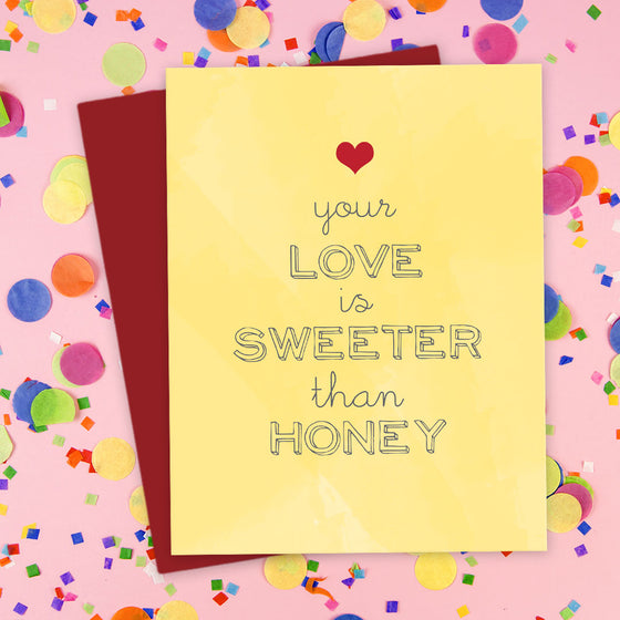 Your Love Is Sweeter Than Honey Card by The Spotted Olive - Scene