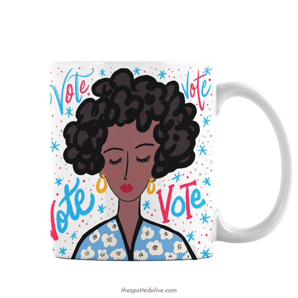 Vote Lady Coffee Mug by The Spotted Olive - Right