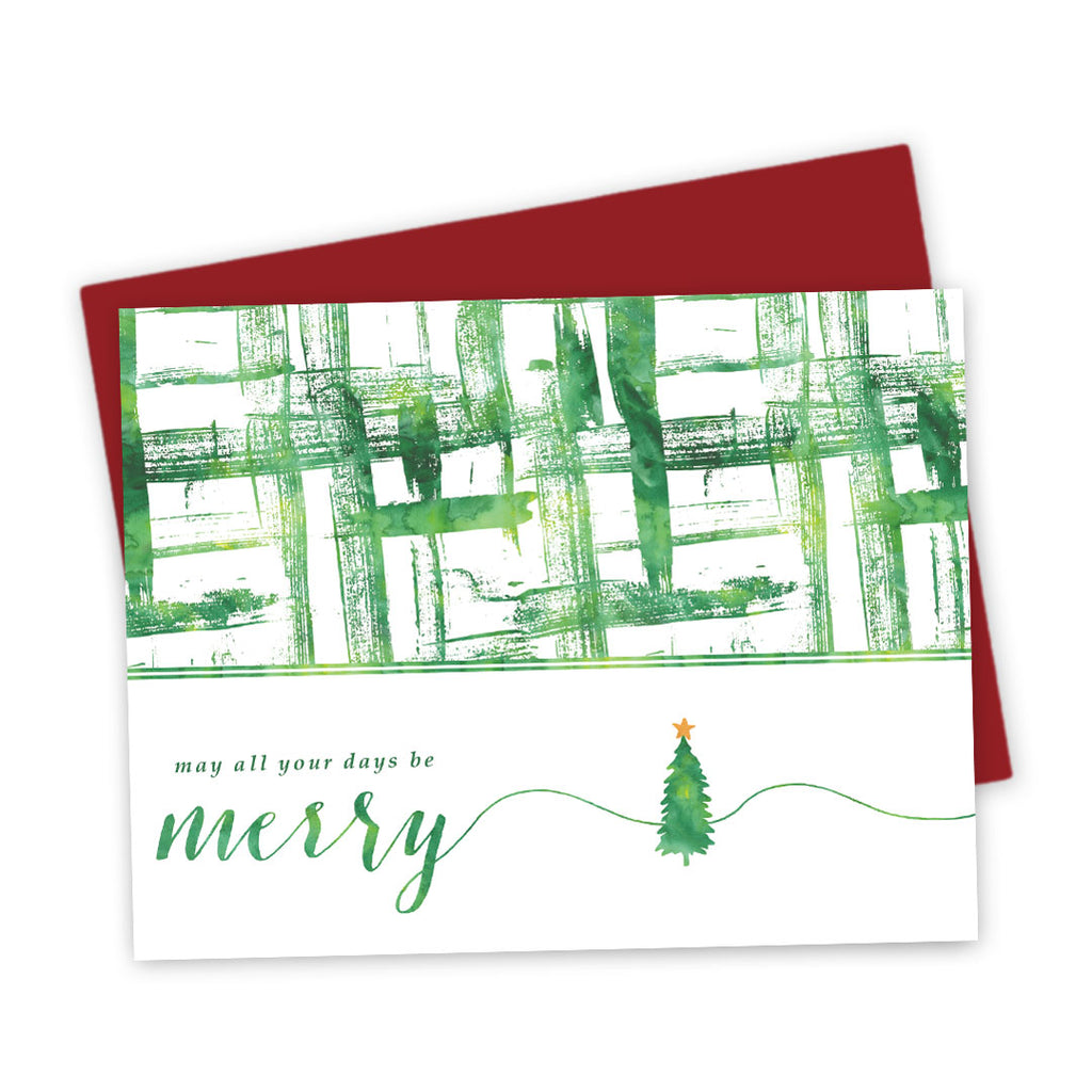 Holiday Card - Watercolor Brushstrokes