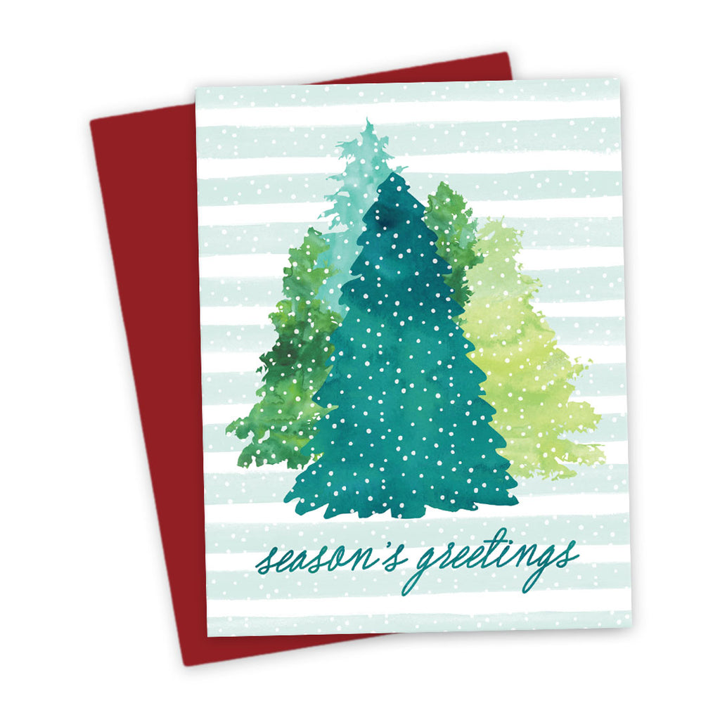 Holiday Card - Winter Evergreens