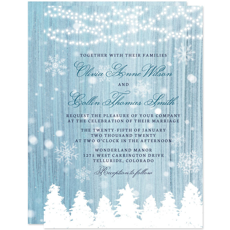 Wedding Invitations - Winter Wonderland | The Spotted Olive - The ...