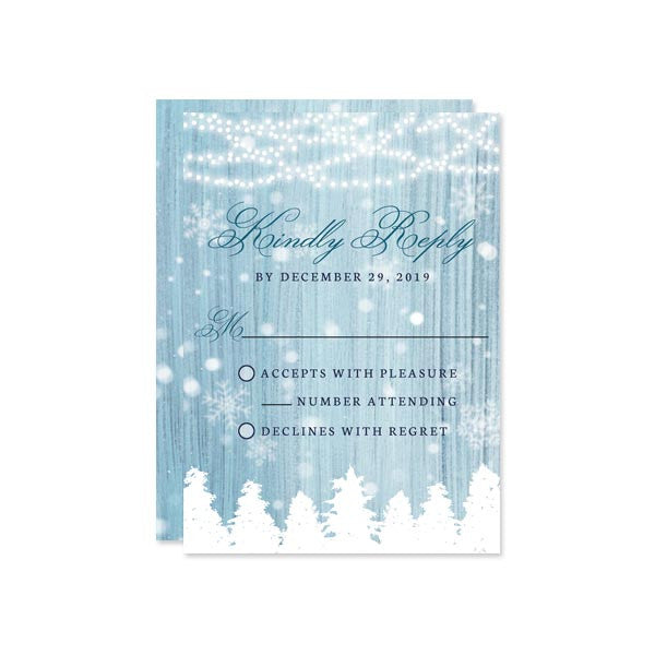 Winter Wonderland RSVP Cards by The Spotted Olive
