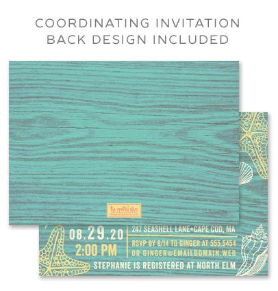 Free Coordinating Invitation Back Design