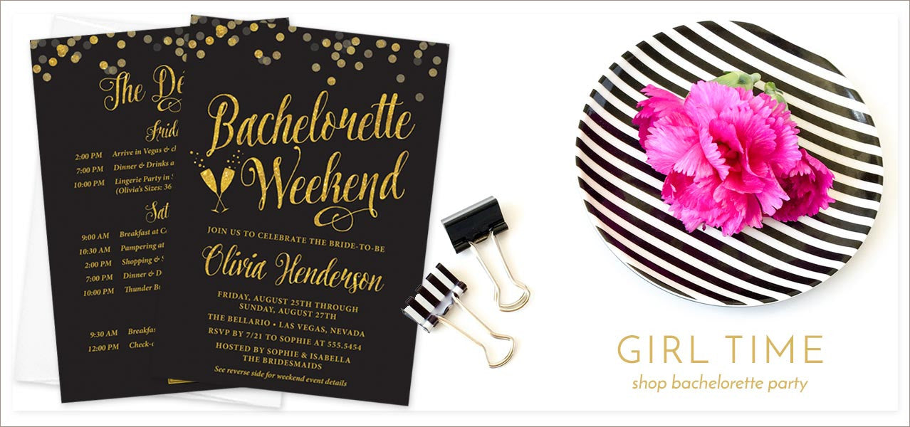 Shop Bachelorette Invitations at The Spotted Olive