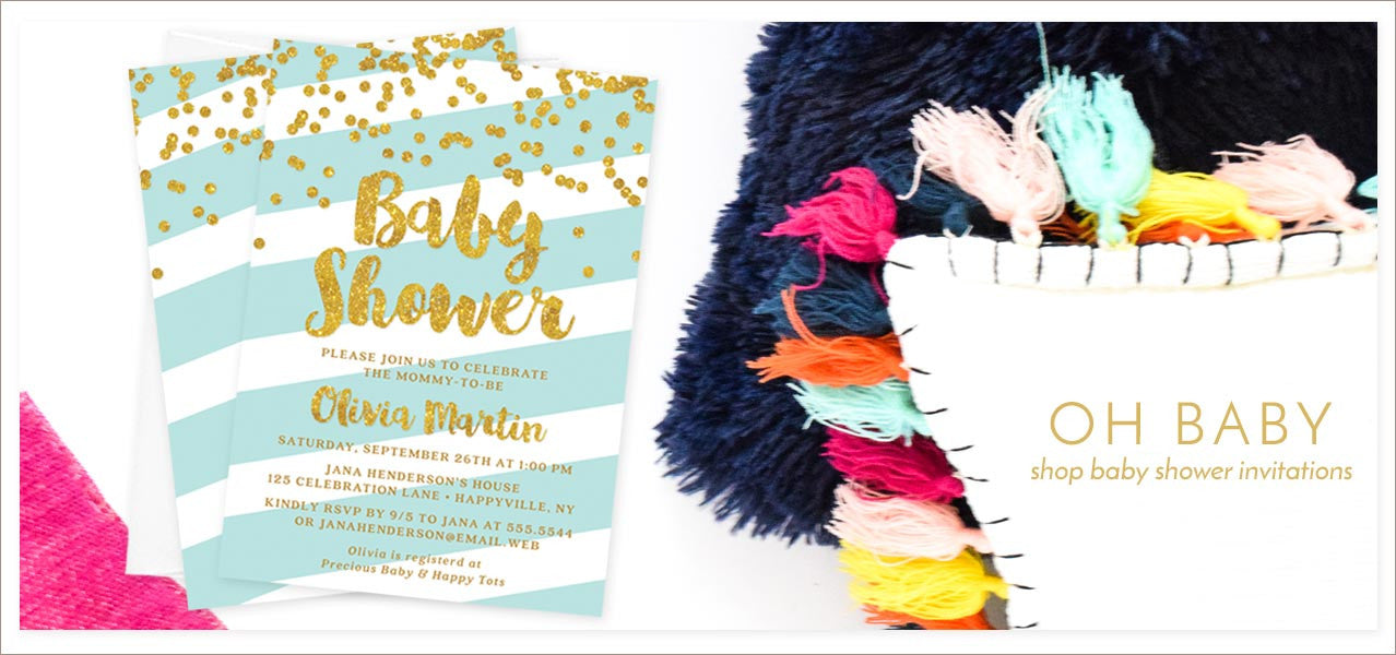 Shop Baby Shower Invitations at The Spotted Olive