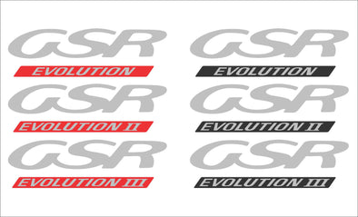 Lancer Evolution 1 2 3 GSR Hood/Bonnet Decal CD9A CE9A