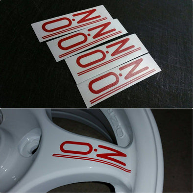 OZ Racing Wheel decals.