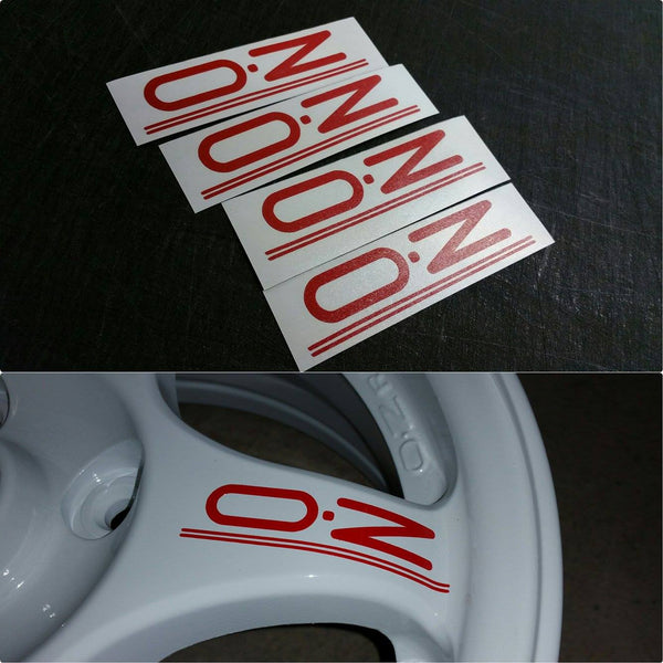 OZ Racing Wheel decals. 4 PCS