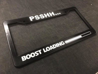 Psshh... Boost Loading License Plate Frame
