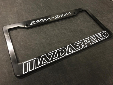 Zoom Zoom Mazda Speed License Plate Frame
