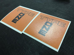 2 PCS Type One Decals