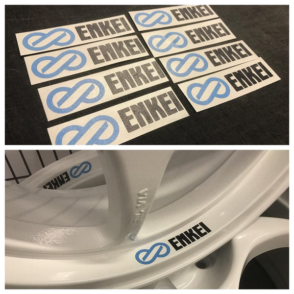 ENKIE Wheel decals. 8 PCS